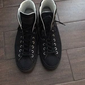 Black Louis Vuitton sneakers
